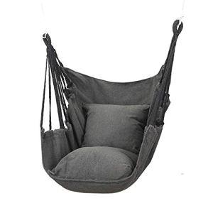 Chaise hamac, balançoire suspendue à corde Confort supérieur et durabilité Hamac en toile de coton de qualité pour chambre à coucher