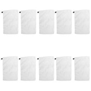 Cikonielf 10 pièces Sac en Filet de Nettoyage récupérateur de déchets de Feuilles Sacs filtrants en Maille Fine pour aspirateur de Piscine Blanc 13 x 7.9in
