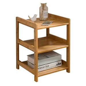 Coffee Table Petit meuble simple en bambou décoré pour salon, balcon, maison et bureau, table stable (dimensions : sans roue, 55 x 38 x 50 cm)