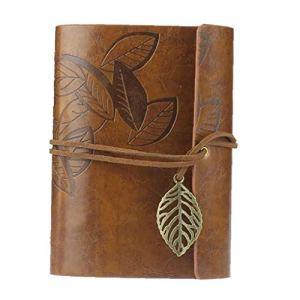 Couverture En Cuir Pour Ordinateur Portable Vintage Loose Leaf Blank Journal Rétro Bound Écrit Journal Note Book Brown 1pc Home Appliance
