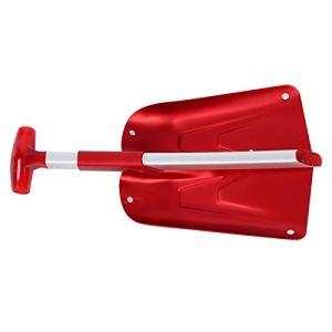 DAUERHAFT Bonne Conception d'extension télescopique de Pelle à Neige Pliante de Texture, pour des Enfants(Red)