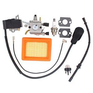 Débroussailleuse Brush Cutter Filtre à carburant Bobine d'allumage Kit 41341200653 41344001301 41341410300 pour Stihl FS120 FS200 FS250 FS300 FS350