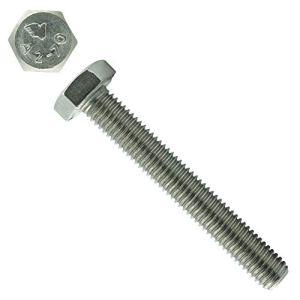 Eisenwaren2000 Lot de 10 vis à tête hexagonale avec filetage jusqu'à la tête M12 x 30 mm – DIN 933 – ISO 4017 – Vis filetées – Filetage complet – Acier inoxydable A2 V2A