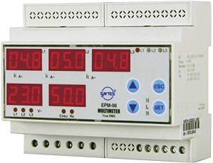 Entes–Epm-06cs-din 3Stage programmable multimètre sur rail DIN AC Tension Epm-06cs-din, courant, fréquence, Auto