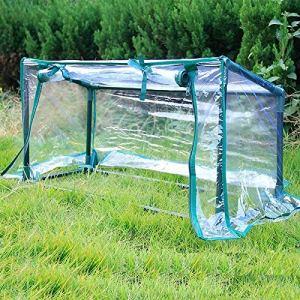 Épais PVC transparent avec blindage Housse de protection Tube d'acier de capot for les plantes de jardin Balcon Cour vent Pluie Prévention (Color : Green, Size : 74 29 36cm)