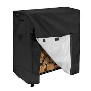 Felenny Bâche en tissu Oxford imperméable pour bois de chauffage extérieur avec cordon de serrage réglable pour étagère en bois de 1,2 m pour 4 saisons
