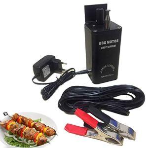 Fetcoi Moteur pour tournebroche – Moteur électrique pour rôtisserie, rôtisserie, accessoire de barbecue, moteur de barbecue, pour rôtisserie, rôtisserie, camping, pique-nique