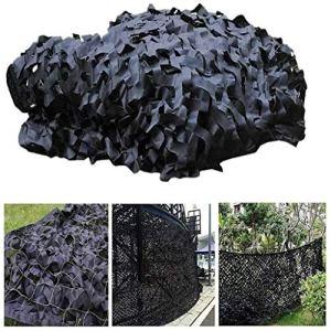 Filet de camouflage extérieur , Filet de camouflage noir pour le camping Masquer la taille optionnelle multicolore 2x3m peut être personnalisé Filet de parasol pour voile de jardin (couleur: noir,