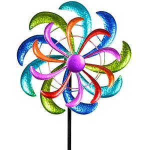 Formano Moulin à vent coloré – 124 x 30 cm – Décoration de jardin