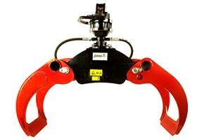 Forstgreifer oG12 3 tonnes-finn rotator cR300 de lF-tech holzgreifer, rückezange, de préhension, reisiggreifer, pelles mécaniques, excavateurs, grue en bois