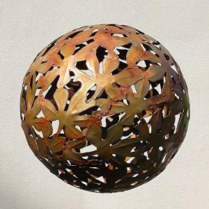 Gartendeko Kugel aus rostigem Metall Oder Edelstahl – Folium Pila/Edelstahl