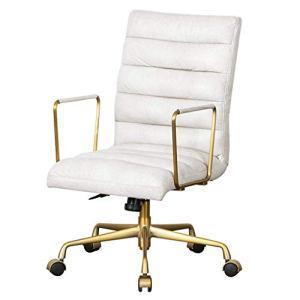 GOHHK Meubles Chaise d'ordinateur Chaise Jeu Chaise Dossier Simple Maison Chambre d'ordinateur Chaise Bureau Chaise pivotante Boss (Couleur: Blanc crème, Taille: 64 * 66 * 92 cm)