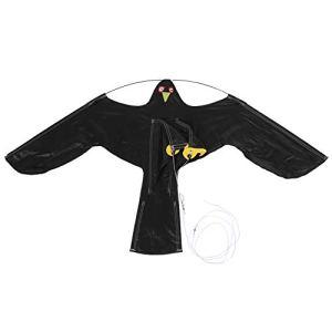 Greensen Cerf-Volant effaroucheur d'oiseaux, cerf-Volant répulsif d'oiseau Faucon avec Poteau télescopique de 6 m pour la Ferme de pelouse d'arrière-Cour