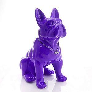 GYUGSD Bulldog Ornements animalerie décoration Loi Combat Ornements réception Porche Salon Chanceux Ouverture Cadeau 23X19X11CM B