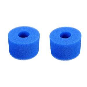 HongFüFü 2 pièces Filtre Spa Éponge Filtrante pour Intex S1, Remplacement Lavable pour Outil de Nettoyage de Cartouche de Cartouche de Papier Filtre de Type Intex S1, 7,3 x 10,8 x 10,8 cm