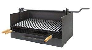 IMEX EL ZORRO 71517 Tiroir pour Barbecue avec Broche et Grille en Acier Inoxydable 72 x 40 x 33 cm