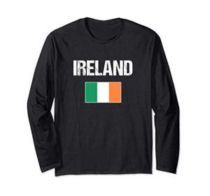 Irlande Drapeau Irlandais Ireland Manche Longue
