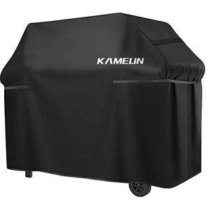KAMEUN Housse Barbecue de 210D Protection BBQ Couverture de Gril Convient Résistant aux UV, à l'eau et aux Larmes,Anti-vieillissement Sangle Ajustable(145x61x112cm)