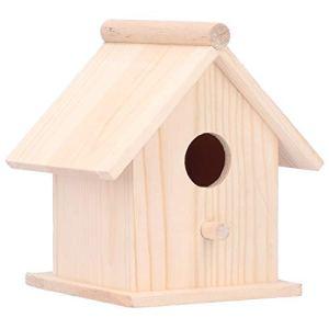 Ladieshow Maison d'oiseau en Bois innovant Suspendu Oiseaux nids Cage extérieur Jardin décor Ornement
