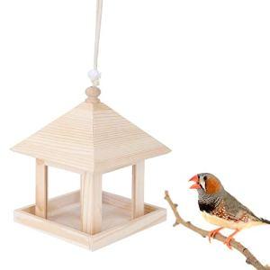 Ladieshow Suspendu Maison d'oiseau boîte de Nidification Alimentation boîte d'alimentation Jardin Ornement extérieur Arbre Bricolage décoration