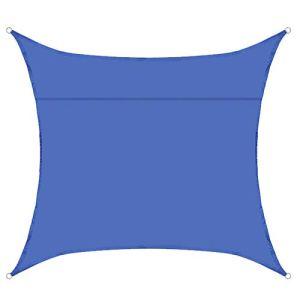 LHQ-HQ Voile De Pare-Soleil Imperméable Carrée 9.84 * 9.84 Pieds Auvent De Protection UV en Tissu De Parasol Extérieur pour Pergola D'arrière-Cour De Jardin,Bleu