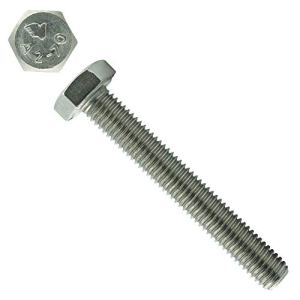 Lot de 15 vis à tête hexagonale M12 x 120 mm avec filetage jusqu'à la tête – DIN 933 – ISO 4017 – Vis filetées – Acier inoxydable A2 V2A