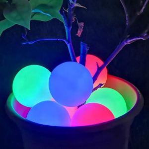 Lumière de Spa à LED, Lumière de Piscine Flottante Étanche IP68, Lumière de Baignoire à Couleur Changeante, Cadeau de Lumière de Boule pour Enfants Amoureux Anniversaire de la Famille-2pcs