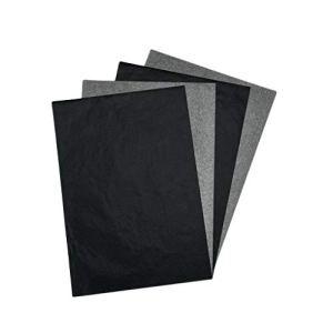 LXJLXJ 100pcs A4 Papier Carbone Noir Graphite Lisible Transfert Tracing Peinture réutilisable Art Surfaces Papier de Copie