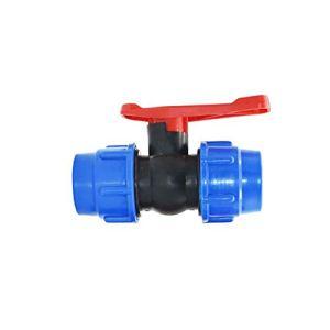 MDD 20/25/32/40 / 50mm Tuyau d'eau en Plastique Valve Rapide, Tube PE Tube 3 Voies Connexion Rapide PVC Vannes À Bille PVC Accessoires (Size : 40MM)