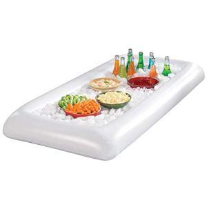 Mediawave Store Coussin gonflable 134 x 64 cm en PVC pour boissons et snacks de piscine ou de pique-nique.