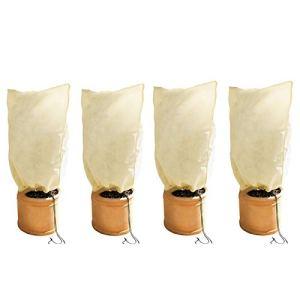 Merclix Lot de 2 paires de housses de protection contre le gel avec cordon de serrage pour plantes d'extérieur