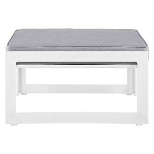 Modway Fortuna Ottomane d'extérieur en aluminium Blanc/gris