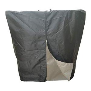 Moslate IBC Tote Cover for 1000L, Outdoor Rain Barrel Water Tank Protective Cover, with Zip on One Side, 210D Sunshade pour Protéger Votre Réservoir d'eau des Rayons UV Nocifs (Noir)