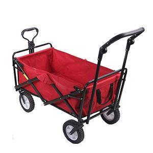 NEHARO Chariot Pliant Wagon Jardin Panier Chariot Pliable Tirez Camion Pliant Chariot avec roulettes Camping Chariot Chariots de Jardin Wagons (Color : Red, Size : 100x50x75cm)
