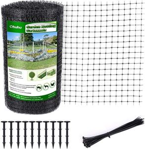 Ohuhu Filet à Oiseaux Robuste de 2 x 30m pour Le Jardin, Filets de Jardin réutilisables en matériau Anti-Oiseaux en PP pour Fruits, légumes, Arbres de Plantes clôtures de Protection
