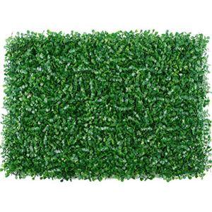 OUCRIY 1 pièces Gazon Artificiel Plante pelouse Dalles Miniature Banc clôture pelouse Artificielle pour la Maison Jardin Fond décor 40×60 cm