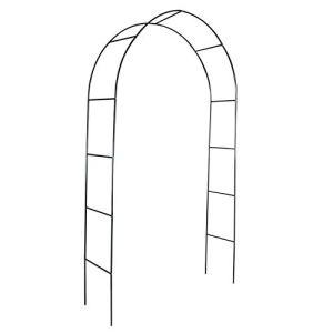 Outech Métal Arche de Jardin Arche a Rosiers, Plantes Grimpantes en Arceau de Jardin Noir, Arcade de Jardin Légère, pour Grimper Les Vignes Et Les Plantes (120 Cm, 150 Cm)