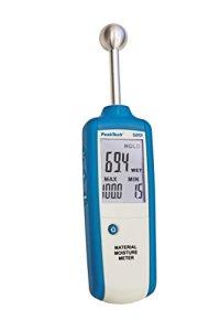 PeakTech 5201 – Humidimètre, Hygromètre pour Bâtiment, Indicateur d'Humidité en Bois, Mur, Plâtre, Gypse, Maçonnerie, Mesure d'Humidité – Profondeur de Mesure : 20-40 mm
