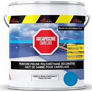 Peinture piscine carrelage plus résistante qu'une peinture epoxy bassin Polyuréthane – Bleu ciel ral 5015-20 kg (jusqu'à 65m² pour 2 couches) – ARCANE INDUSTRIES