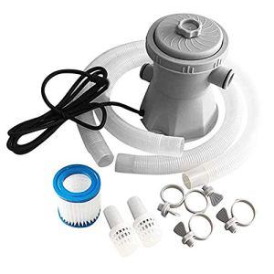 Piscine Filtre Pompe Électrique Piscine Filtre Kit Filtre Pompe Piscine Outils De Nettoyage Situé À 300 Gallon Au Dessus Du Sol Eu Plug