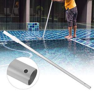 Poteau télescopique professionnel en aluminium, idéal pour les têtes et brosses d'aspirateur d'écumeur, poignée et verrouillage solides, piscine à finition nervurée en alliage d'aluminium poteau téles