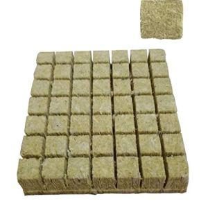 propagation de la laine de roche légumes semis hydroponique système de culture en laine de roche se branche de blocs cylindriques accessoires jardinage 25 * 25 * 30mm
