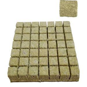 Rockwool Cultivez cubes Pépinière Bloc hydroponique Culture Soilless Compress base pour la croissance des plantes Style1 50PCS