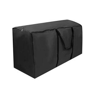 Sac de rangement pour meubles, tissu Oxford 210D Meubles d'extérieur et d'intérieur Sac de rangement étanche Article Housse de protection Accessoire Sac de rangement pour coussin de patio noir