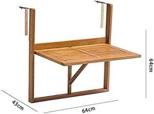 SDFJKO Table de Balcon Plaque en métal déployé Suspendu – Table Pliante Petit Balcon,Brown
