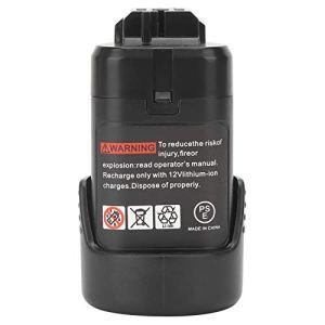 SEDOOM 10.8V Perceuse électrique sans Fil Remplacement De La Batterie Au Lithium, pour Bosch BAT411 BAT412, 2000MAH