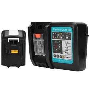 SEDOOM Chargeur De Batterie, pour Makita 18V 5.0AH Lithium-ION Fournitures Industrielles, 3A, DC18, RC 100-240V, Prise EU