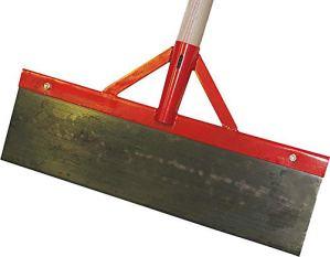 Stoßscharre avec manche en bois et renfort 500 mm