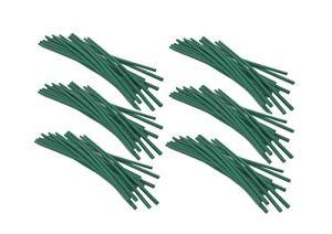 Sweet Online Deal Attache torsadée pour Plantes de Jardin avec revêtement en Caoutchouc Vert 120PC