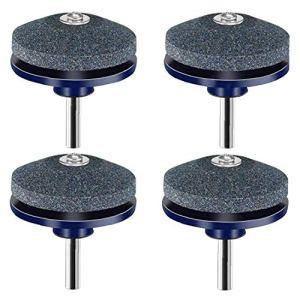 Tondeuse Sharpener Tondeuse Balancer outil Grinder roue de pierre pour Perceuse perceuse à main 4 Packs